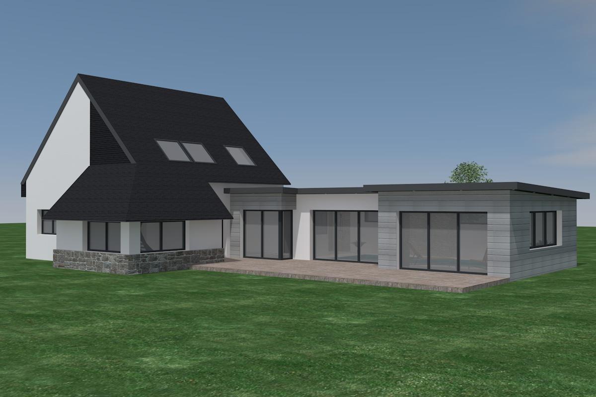 Extension Maison Piscine Couverte home passion - maître d'oeuvre crozon - bureau d'études